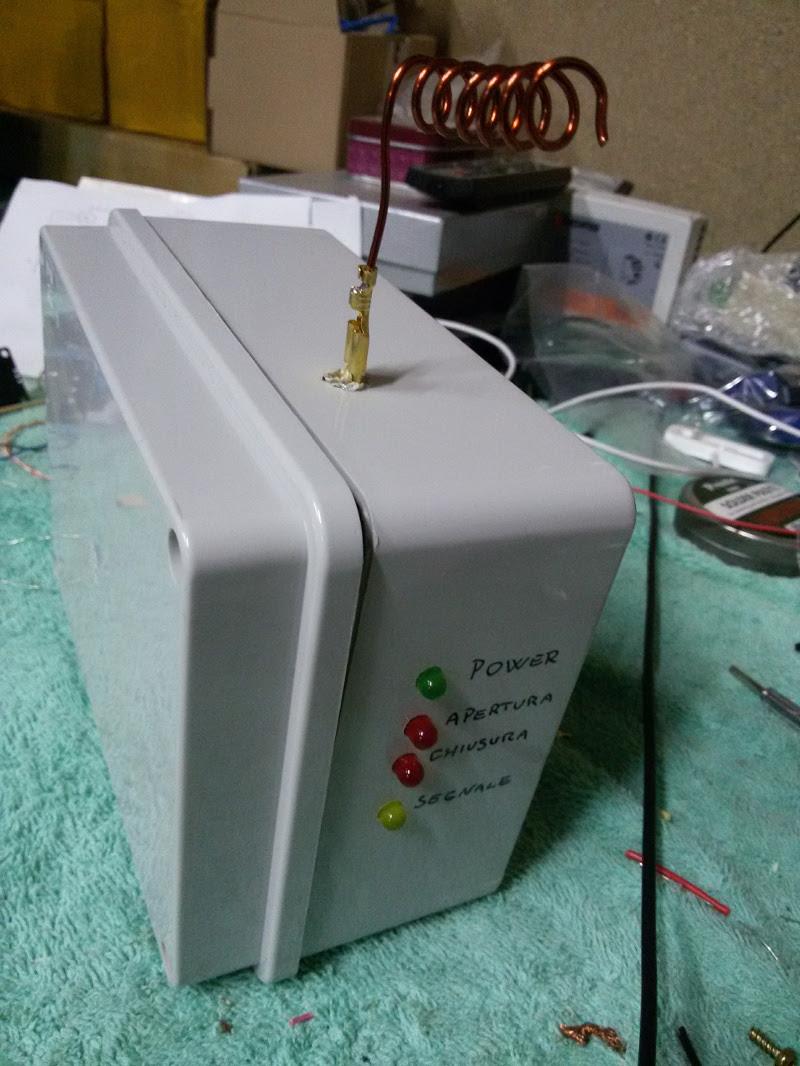Particolare LED della cassetta di derivazione