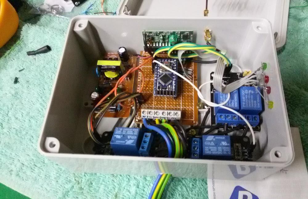 Progetto montato in cassetta di derivazione