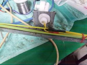 Particolare sensore liquidi