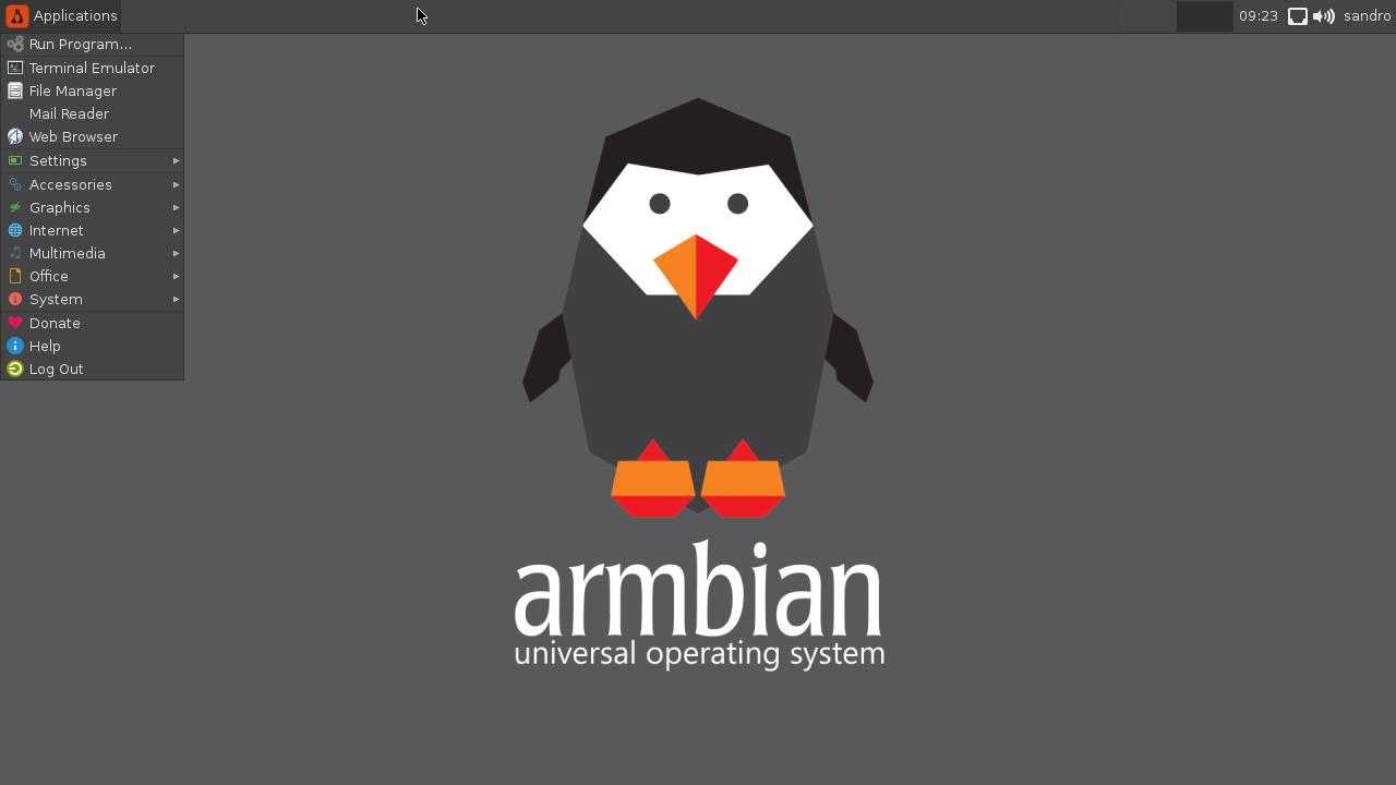 Screenshot Armbian su eMMC